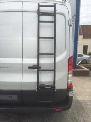 A 7 Step Ladder installed onto a Ford Transit
