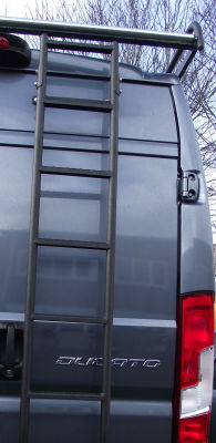 An 8 Step Ladder fitted to a Fiat Ducato